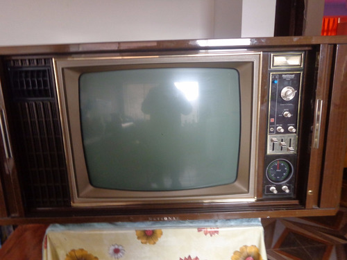 televisor antiguo marca national impecable coleccionistas