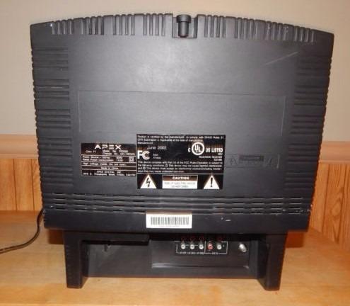 televisor apex 20  crt plano con control modelo pf2025