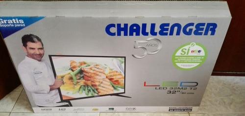 televisor challenger de 32  led