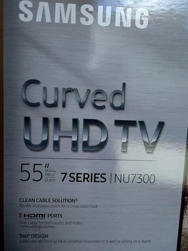 televisor curve uhd 55  samsung serie 7,  nuevo