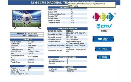 televisor hyundai 32 led hd hyled3238d