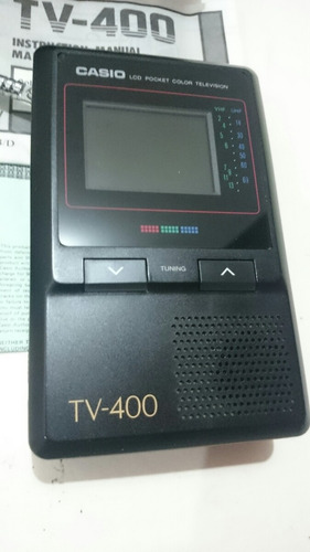 televisor lcd a color portátil casio made in japan <(*¿*)