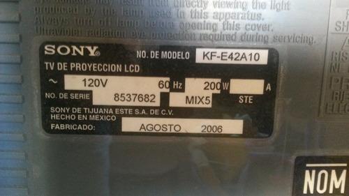 televisor lcd sony 42  kf-e42a10 proyeccion