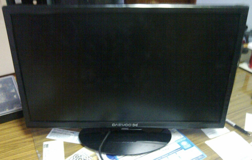 televisor led 24 daewoo dex-24k1f pantalla partida