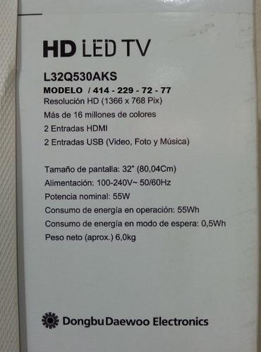 televisor led daewoo 32 hd