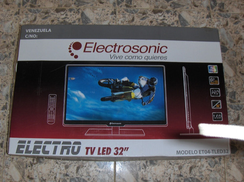 televisor led electrosonic 32  en perfecto estado