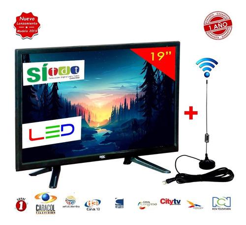 televisor led full hd 19 pulgadas monitor + antena tdt + obs
