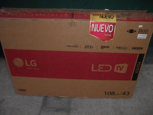 televisor led lg 43'' pantalla rota modelo 43lf54 oferta!!