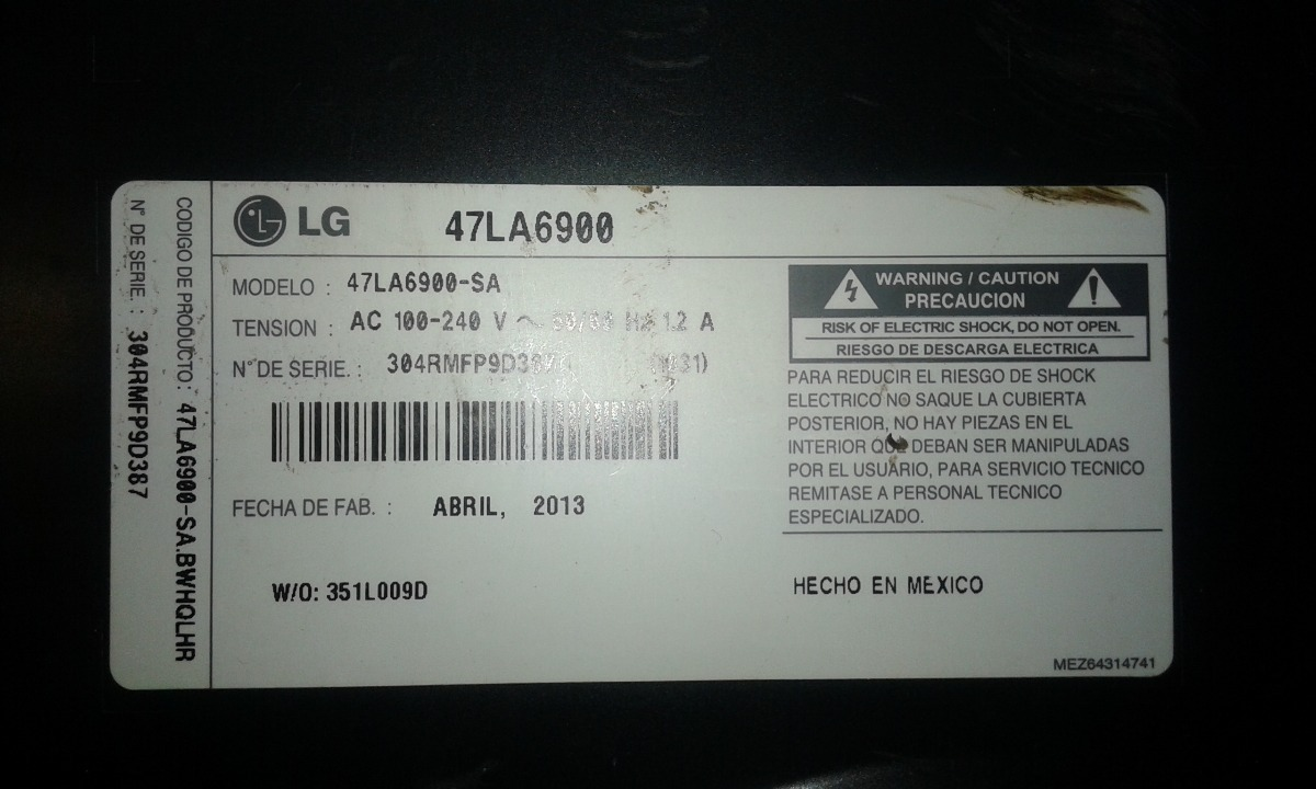 LG 47LA6900 TV Driver for Windows 10