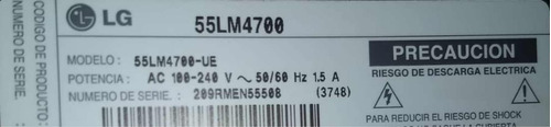 televisor lg 55 pulgadas led 3d con barra de sonido