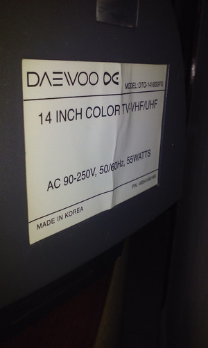 televisor marca daewoo dc 14 pulgadas a color control remoto