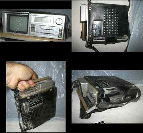 televisor miniatura retro sanyo 5cms años 80s solo adorno