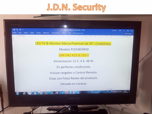 televisor & monitor led 24  hdmi - full hd - premium