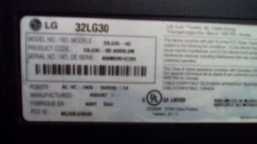 televisor monitor lg 32 pulgadas pantalla rota para repuesto