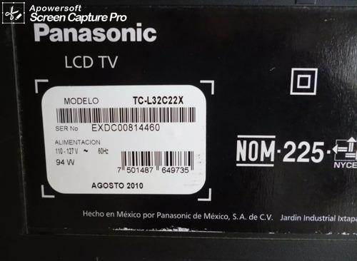televisor panasonic lcd 32 tc-l32c22x para repuesto 20 vrds