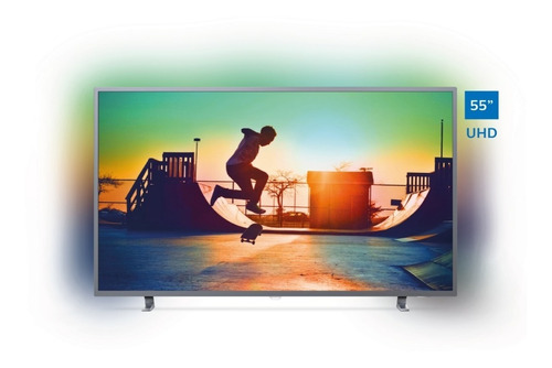 televisor philips smart 4k uhd con ambilight 55 55pud6703