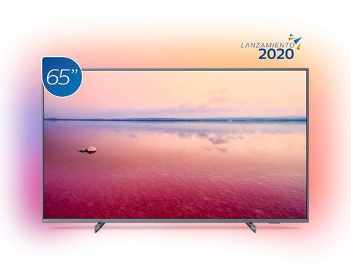 televisor philips smart 4k uhd con ambilight 65 pulgadas