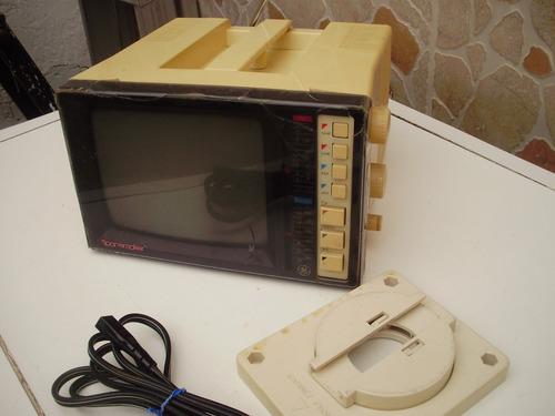 televisor portátil   ge   5' blanco y negro con radio fm/am