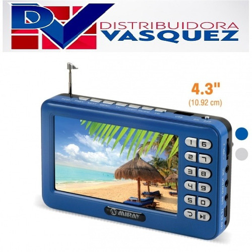 televisor portátil recargable tv led mp5 radio fm video usb