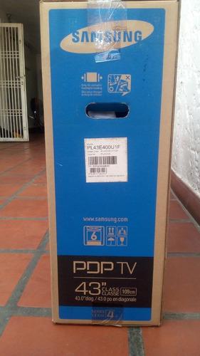televisor samsung 43 pulgadas  plasma serie 400 (nuevo)
