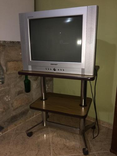 televisor sharpp 21 pul.-c/mesa y c. remoto- muy buen estado
