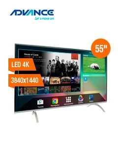 televisor smart advance advk5, 55  led 4k uhd, 3840 x 2160,