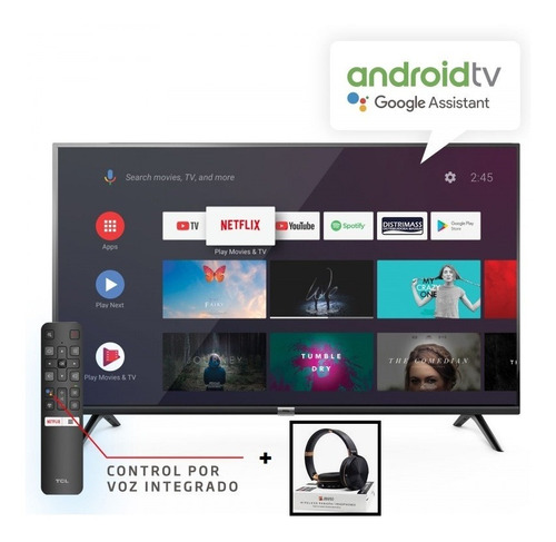 televisor smart tv 32´tcl android + audifono bt space regalo