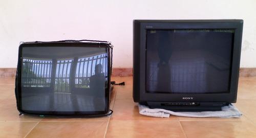 televisor sony 21  usado para repuesto y pantalla adicional.