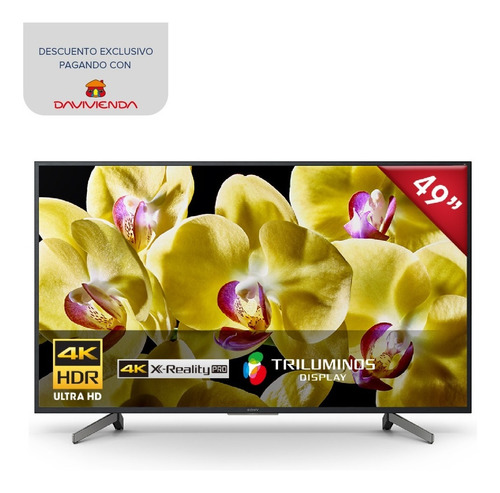televisor sony 4k hdr de 49  smart android tv - xbr-49x807g