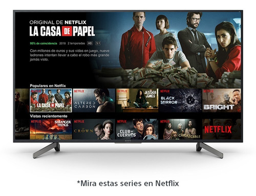 televisor sony 4k hdr de 65  smart android tv - xbr-65x807g