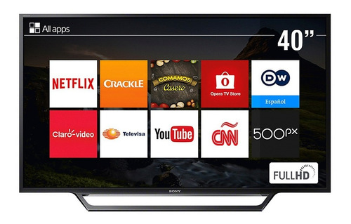 televisor sony kdl-40w655d (smart tv, 40 pulgadas)