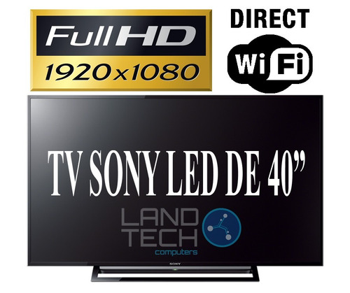 televisor sony led 40 fullhd wifi direct kdl-40r479b +cable