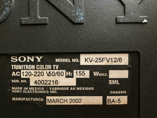 televisor sony triniton 21 pulgadas para reparar
