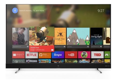 televisor tcl 55  l55c2 smart android 4k barra sonido