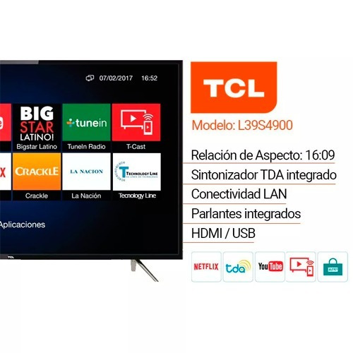 televisor tcl smart