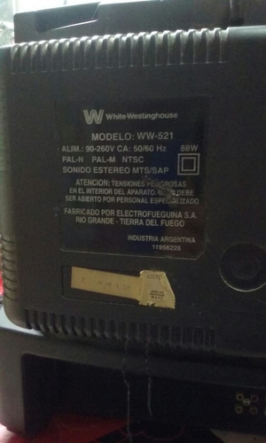 televisor tv 21  color - white westinghouse - p/reparación