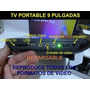 Tv Portatil De 9 Pulgadas Recargable Con Usb Sd Radio Fm 12v