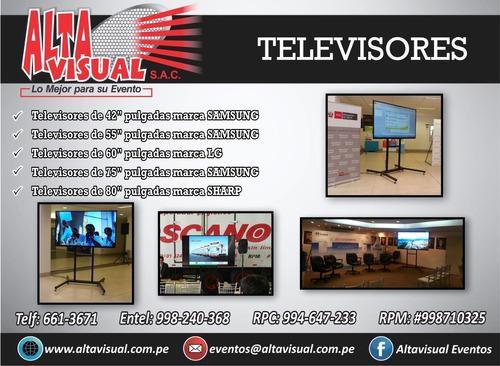 televisores  de 80¿ full hd y  4k  incluye el rack de piso
