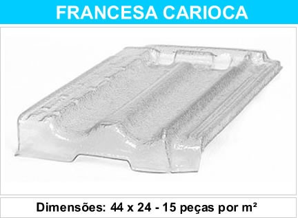 telha francesa carioca pet transparente