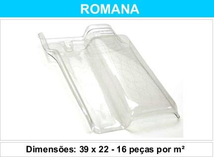 telha romana pet transparente