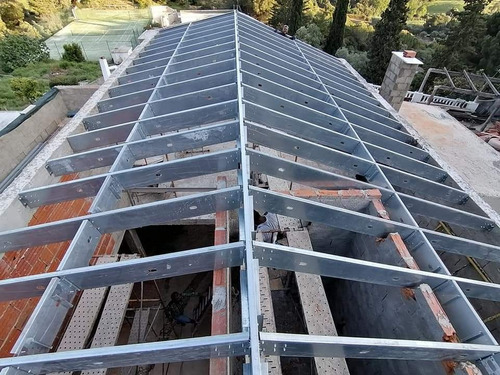 telhado steel frame