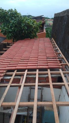 telhados de telha romana brasilit e polietileno