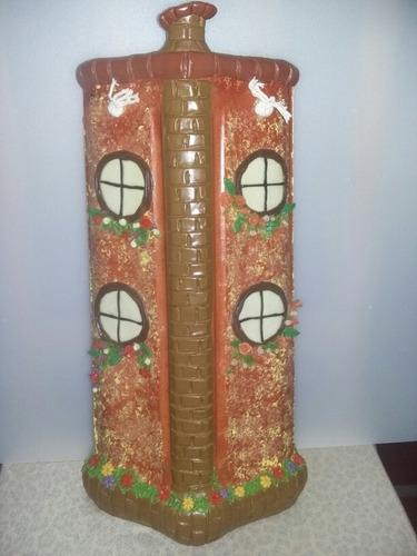 telhas decoradas com biscuit
