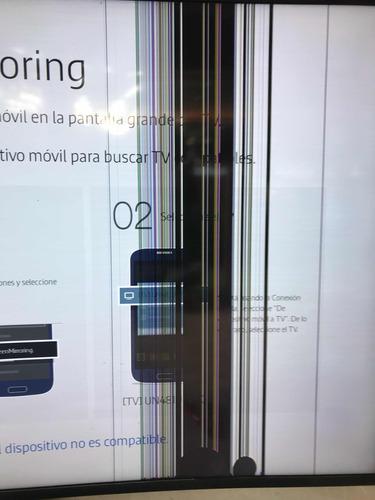 telivisor samsung 49 pulgadas. pantalla mala