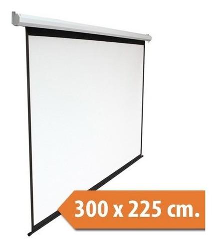 telon electrico dinon 3x2,25 metros con c/remoto ev9012