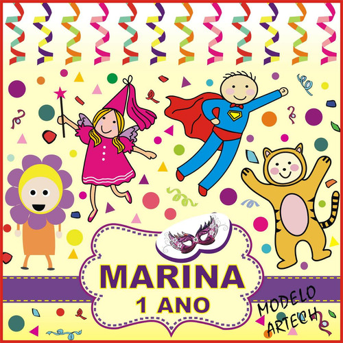 tema carnaval infantil tapete personalizado chão festa salão