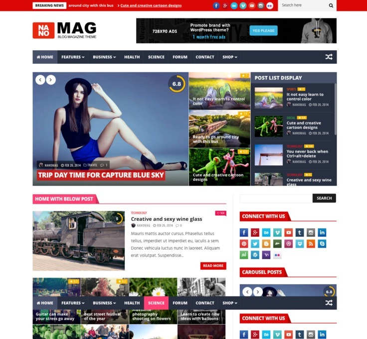 Tema Portal De Noticias 2017 Wordpress Responsivo Pt-br Inst - R$ 9 ...