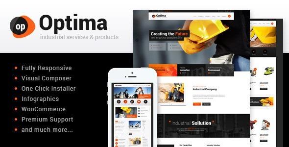 Tema Premium Wordpress: Industrial - Bs. 3.500.000,00 en Mercado Libre