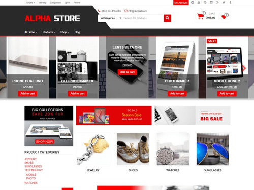 tema premium wordpress loja virtual ecommerce - alpha store