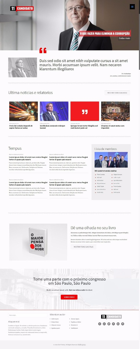 Tema Responsivo Wordpress Para Sites Políticos E Partidos - R$ 39,99 ...